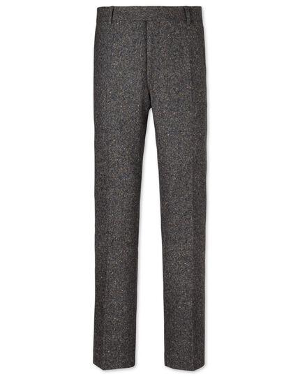 Grey slim fit Donegal tweed pants