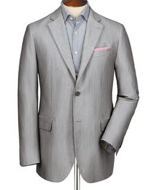 Silver grey classic fit Oxford unstructured jacket