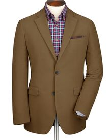 Camel classic fit moleskin unstructured jacket