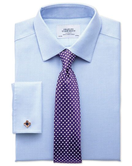 Extra slim fit non iron imperial weave sky blue shirt