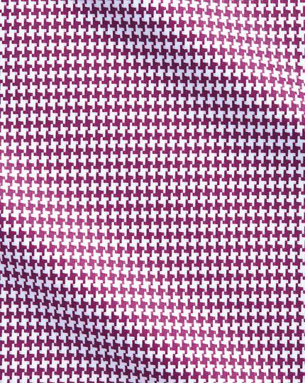 Chemise myrtille avec grand motif pied-de-poule