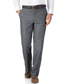 Blue chambray classic fit pants