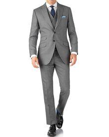 Slim Fit Panama Luxus Anzug in Silber