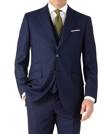 Blue stripe classic fit Panama business suit jacket