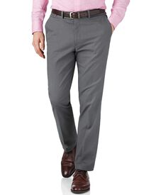 Grey slim fit pin dot pants