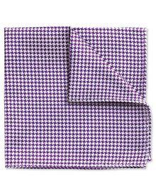 Purple silk puppytooth classic pocket square