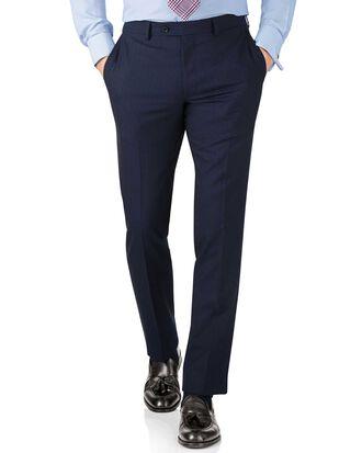 Blue stripe slim fit Panama business suit trouser