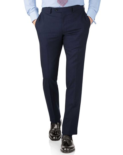 Blue stripe slim fit Panama business suit trouser