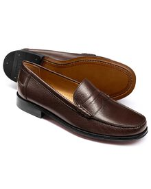 Dark brown Finsbury penny loafers