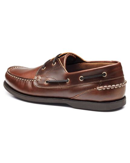 Brown Claremont boat shoes