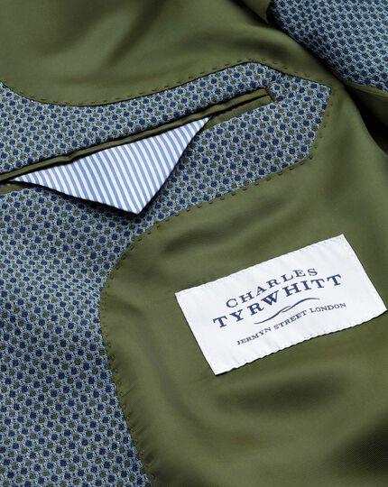 Classic fit grey birdseye wool jacket