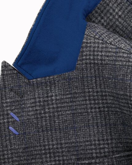 Charcoal Glen check double breasted coat