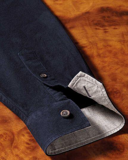 Single fit overshirt navy blue