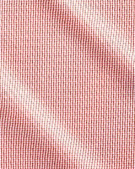 Chemise corail pied-de-poule sans repassage avec coupe droite