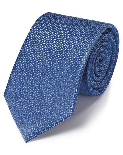 Royal silk wire lattice classic tie