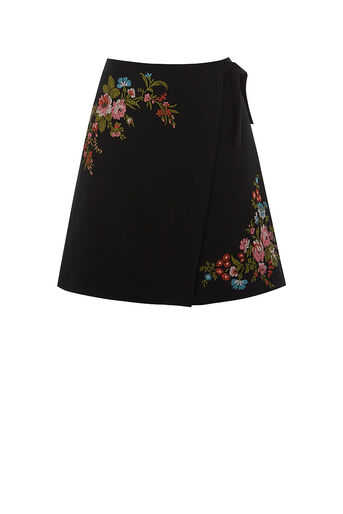Oasis, ROSSETTI EMBROIDERED MINI SKIR Multi 0