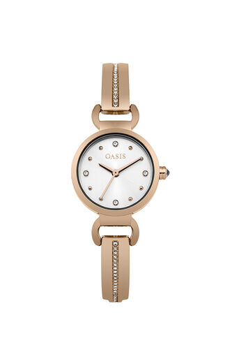 Oasis, Bracelet Detail Watch Rose Gold 0