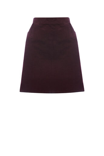 Oasis, CUT ABOUT CORD SKIRT Burgundy 0