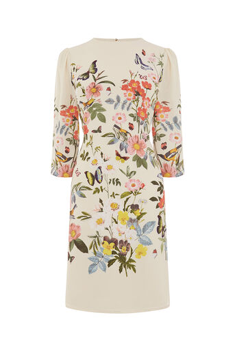 Oasis, LONG AMELIA SHIFT DRESS Multi Natural 0