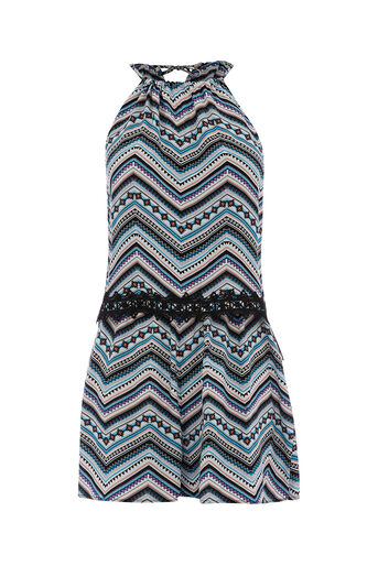 Oasis, AZTEC PRINT PLAYSUIT Multi 0