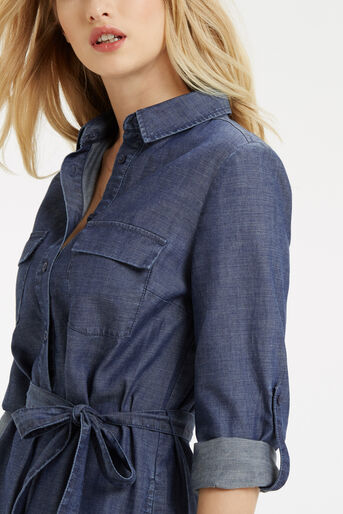 Oasis, Gemma Shirt Dress Denim 4