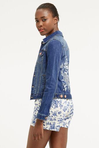 Oasis, Embroidered denim jacket Denim 3