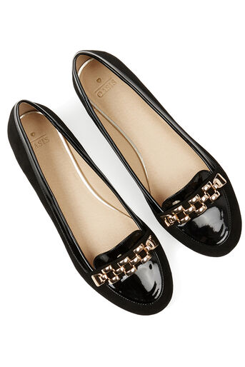 Oasis, Lauren Chain Loafer Black 4
