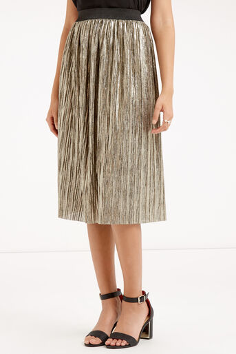 Oasis, METALLIC SKIRT Gold 1