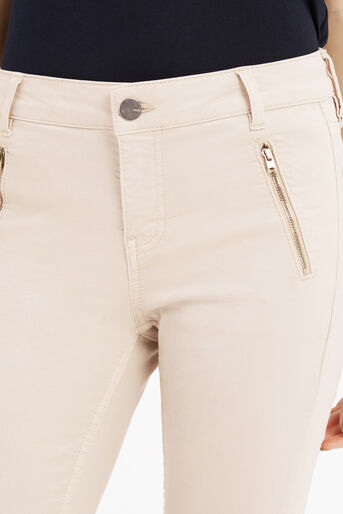 Oasis, Jade Skinny Biker Jeans Cream 4