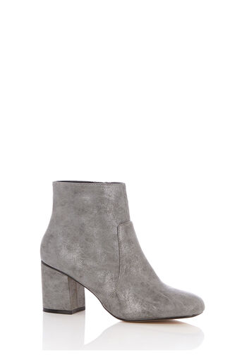 Oasis, KITTY ANKLE BOOT Metallic Pewter 0