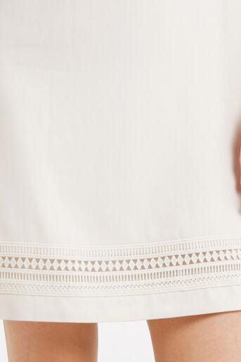 Oasis, Lace Trim Dress White 4