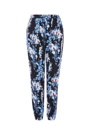 Oasis, tropical botanical trouser Multi Blue 0