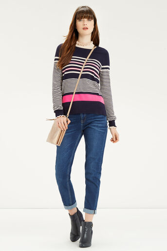 Oasis, Verigated Stripe Jumper Multi 2