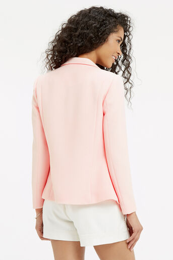 Oasis, TAILORED TEXTURED JACKET Pale Pink 3
