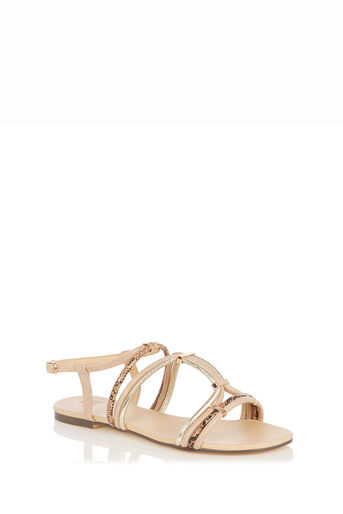 Oasis, Strappy Textured Sandal Multi 0