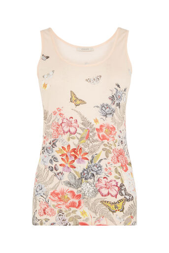 Oasis, Botanical Placement Vest Off White 0