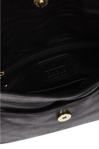 Oasis, Leather Willow Clutch Bag Black 4