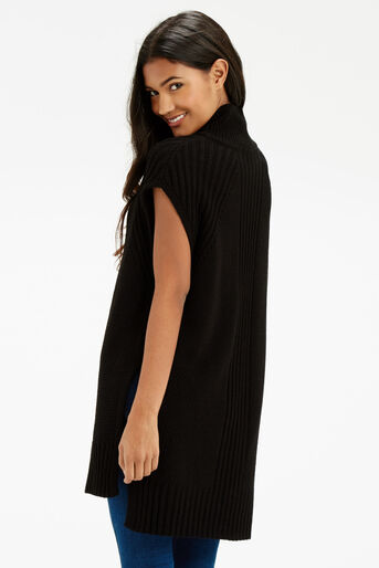 Oasis, Longline Knitted Tunic Black 3