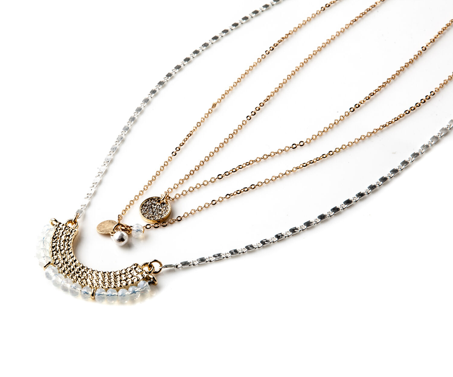 Oasis, LAYERED CHAIN NECKLACE Multi 1