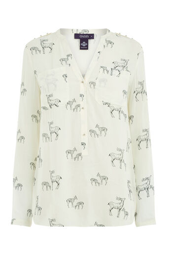 Oasis, FOREST STAG SHIRT Multi 0