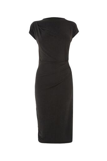 Oasis, cupro drape dress Mid Grey 0