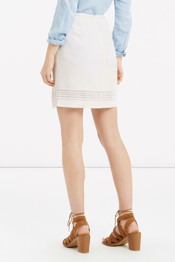 Oasis, Lace Trim Skirt White 3