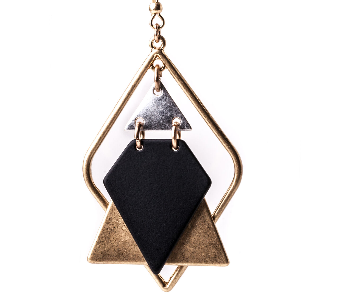Oasis, GEOMETRIC DROP EARRINGS Black 1
