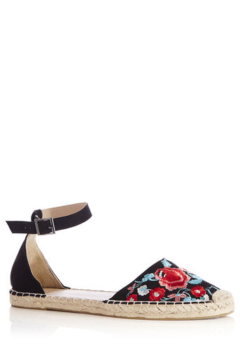 Oasis, EMBROIDERED ESPADRILLE Black 0
