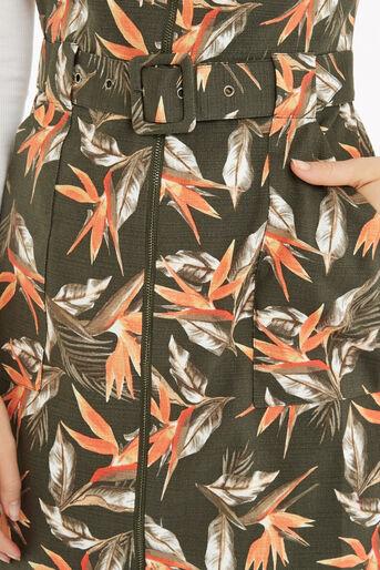 Oasis, Palm Safari Dress Khaki 4