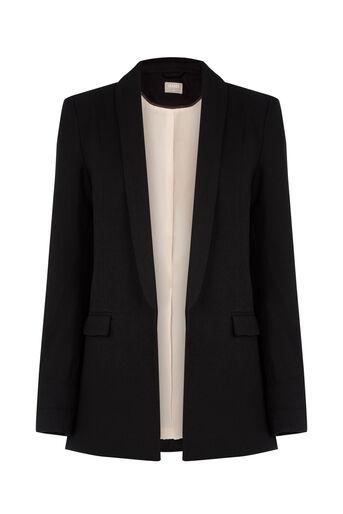 Oasis, Textured Blazer Black 0