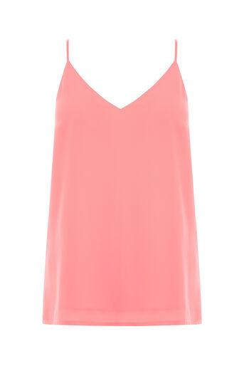 Oasis, V Neck Cami Mid Pink 0