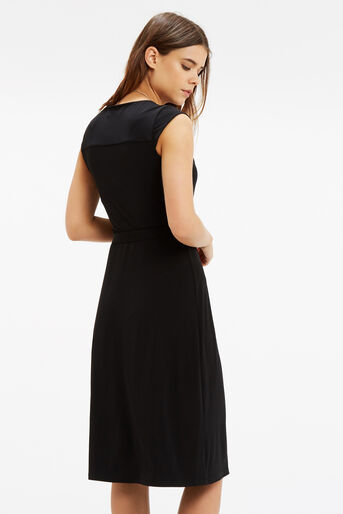 Oasis, Wrap Midi Dress Black 3