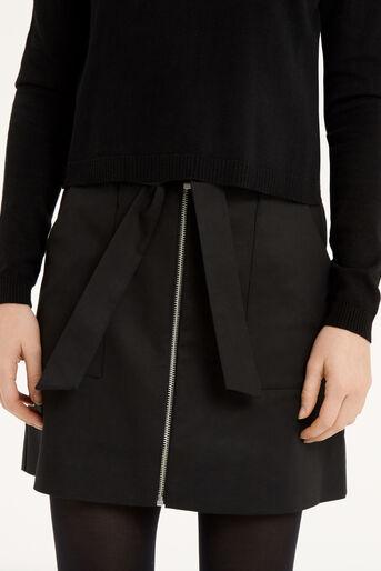 Oasis, Zip A-Line Marley Skirt Black 4