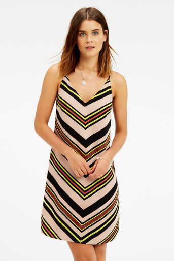 Oasis, Chevron Stripe Cami Dress Multi 1